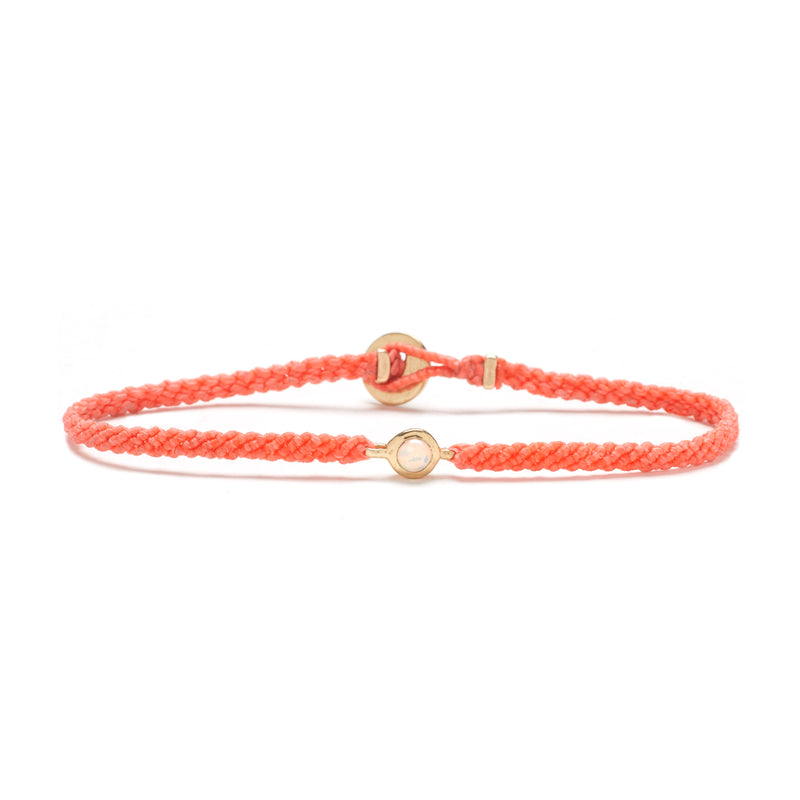 Candy Macrame Bracelet in Salmon