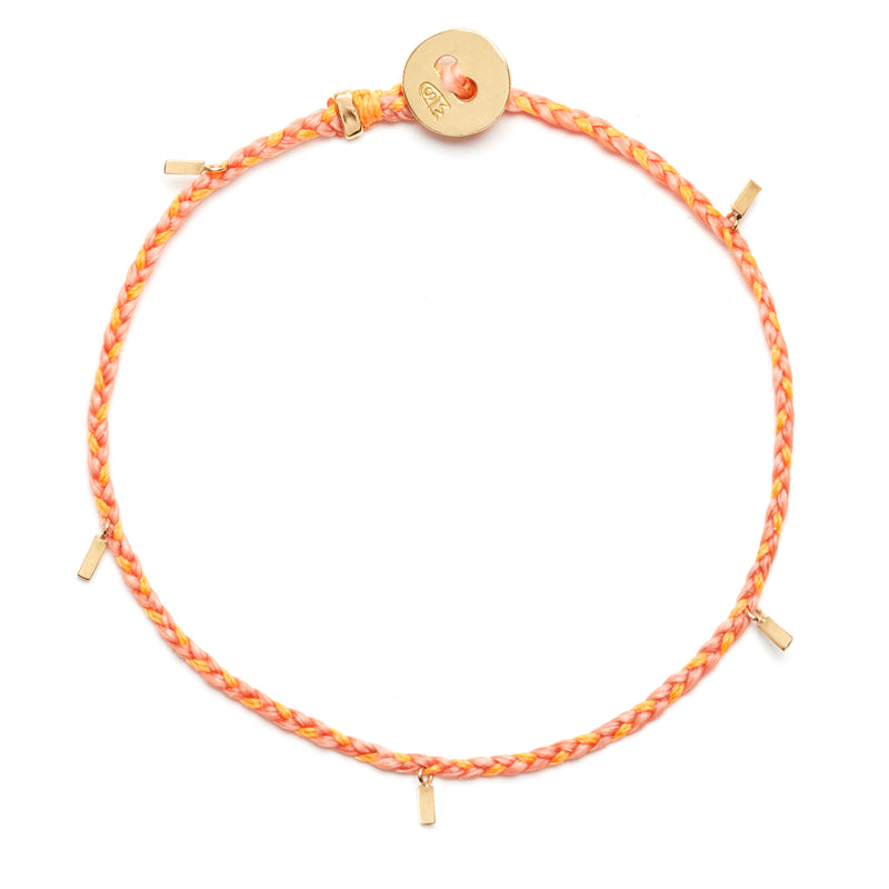 Fairy Tinsel Signature Bracelet in Salmon and Neon Peach