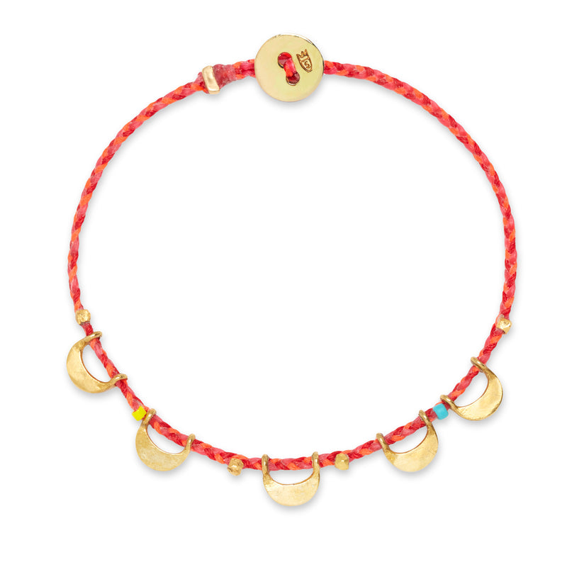 Luna Caravan Bracelet in Hot Pink, Neon Pink, and Scarlet