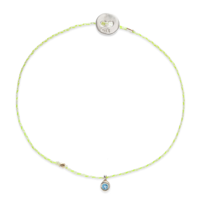 Birthstone Bracelet with Aquamarine