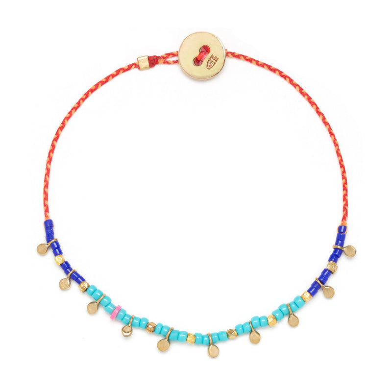 Fairy Bead Confetti Bracelet in Brass