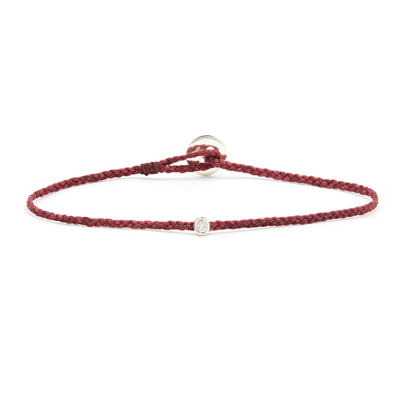 ECO-CORD Diamond BRACELET IN BURGUNDY