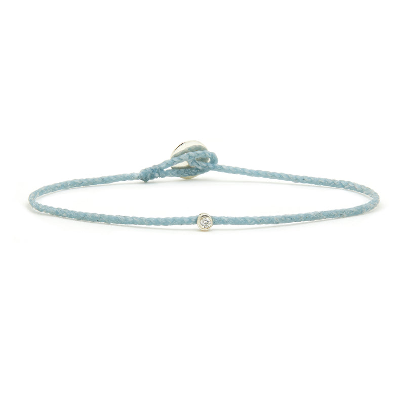 ECO-CORD Diamond BRACELET IN AQUA