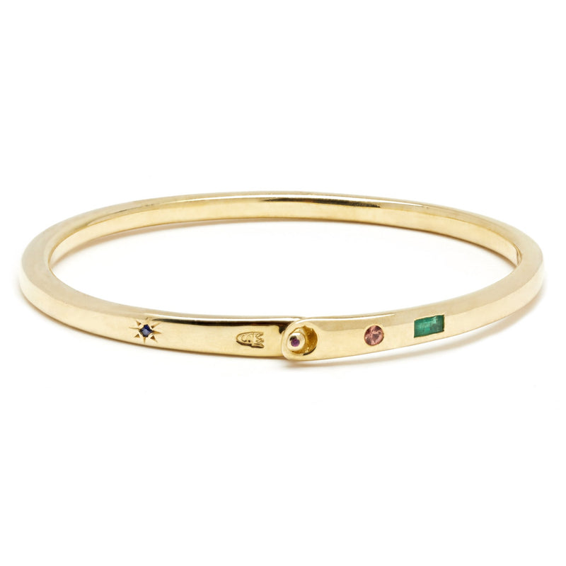 Night Market Bangle in Gold