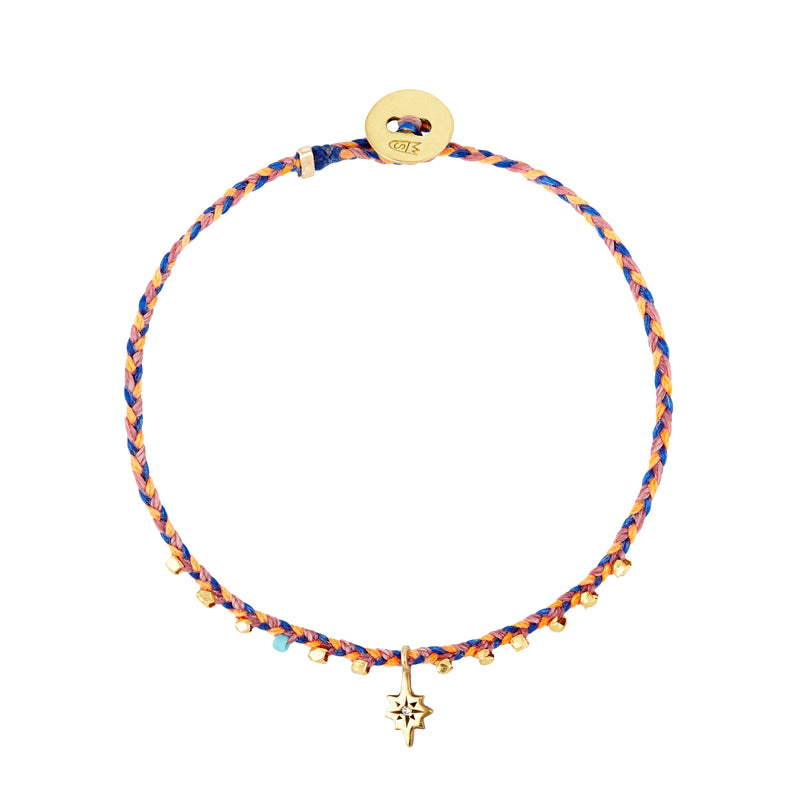 Easygoing Nova Charm Bracelet in Neon Peach, Royal Blue, and Rosewood Pink
