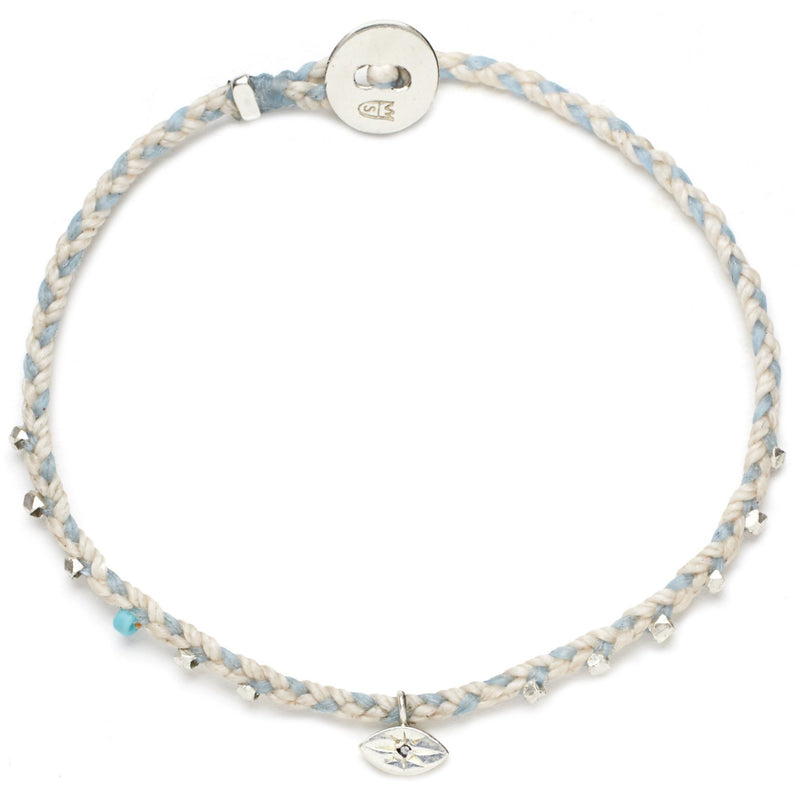Easygoing Eye Charm Bracelet in Ballet Pink and Sky
