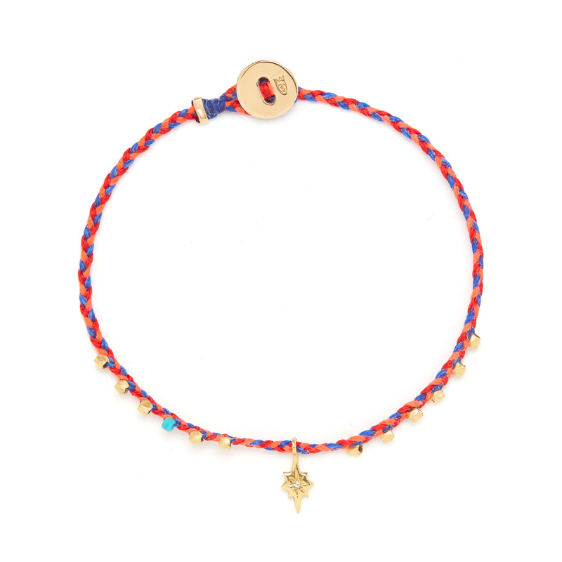 Easygoing Diamond Nova Charm Bracelet in Fire/Royal Blue Blend