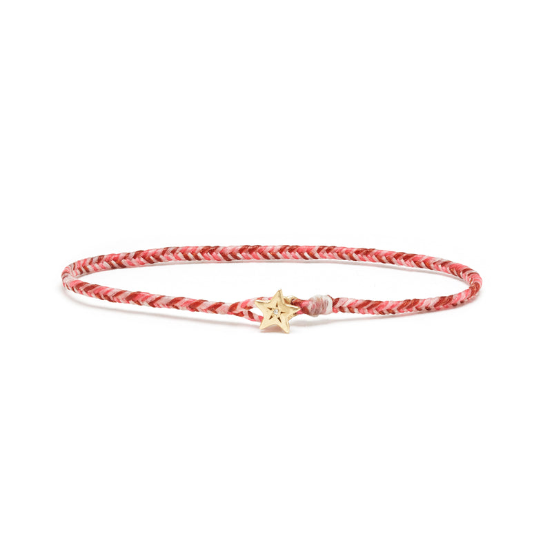 Diamond Star Fishtail Bracelet in Gold