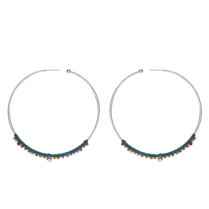 Mirage Hoops in Silver