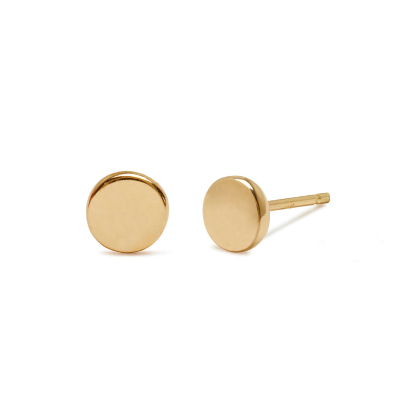*Web Exclusive* Circle Studs in Yellow Gold