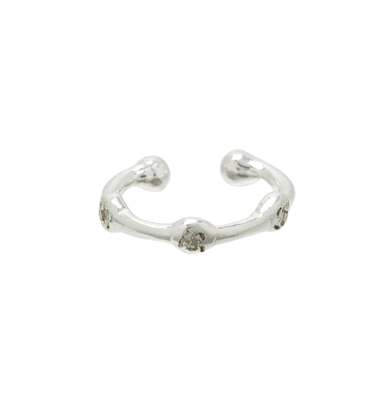 Trio Ear Cuff in Silver