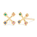 Tiny Suncatcher Studs in Gold with Mixed Stones