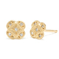 Endless Knot Studs in Gold with Diamonds