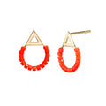Beaded Balance Stud in Red