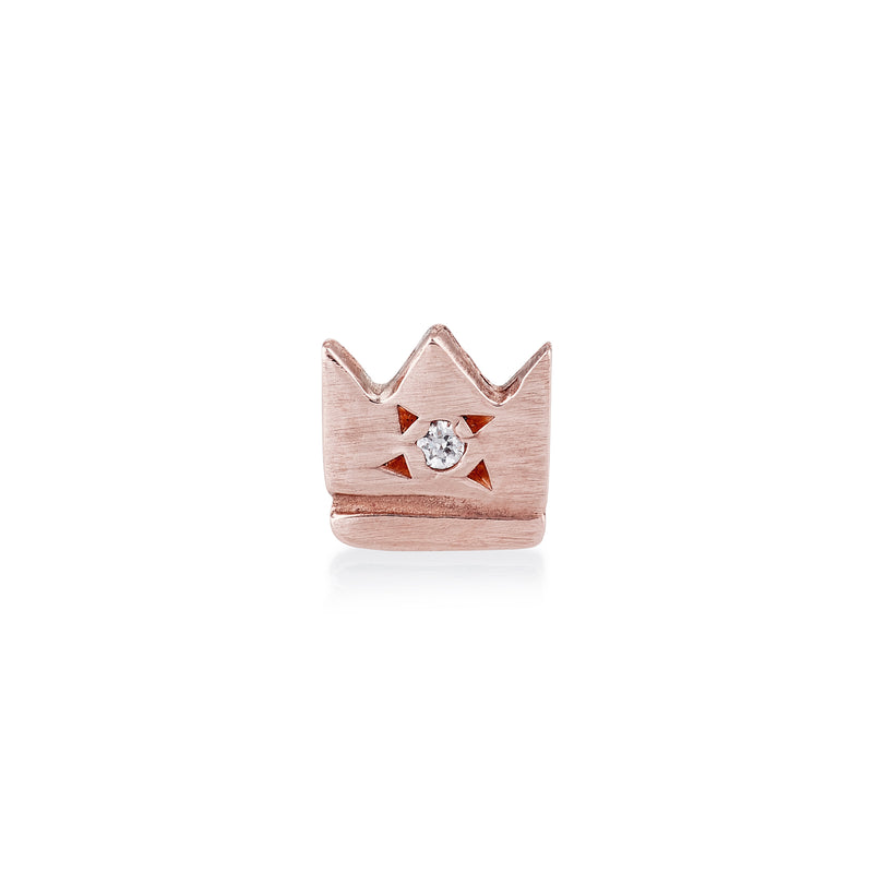 Crown Stud in Rose Gold