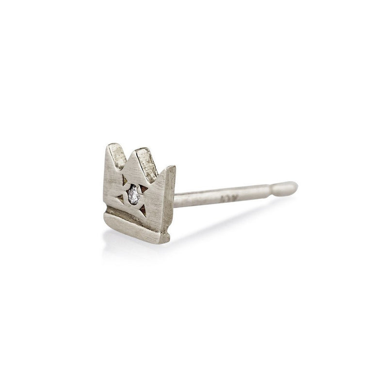 Crown Stud in Silver