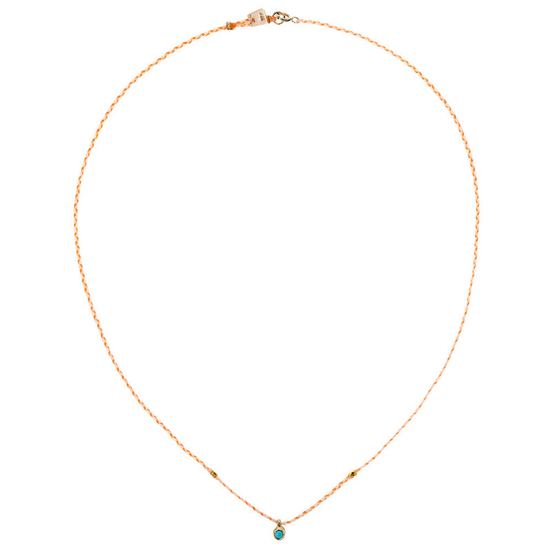 CARNIVAL NECKLACE IN GOLD WITH TURQUOISE
