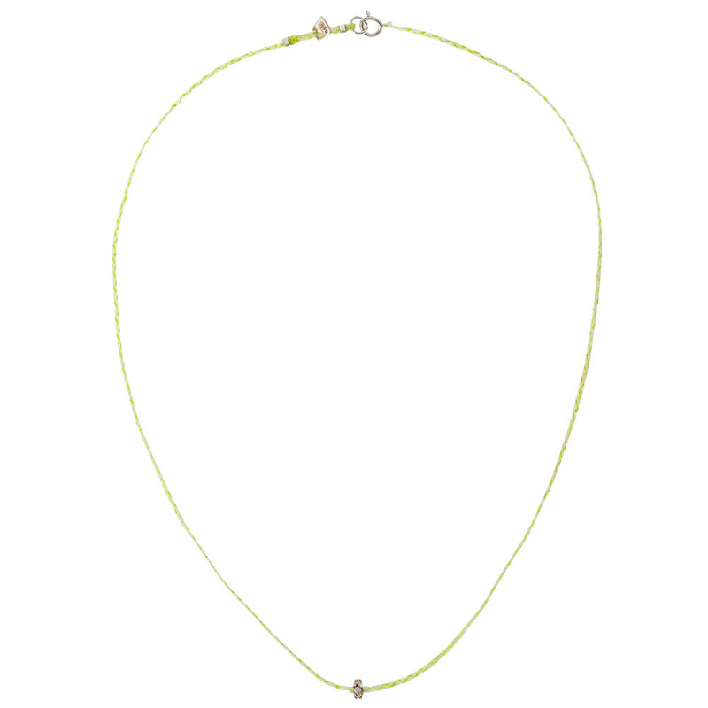 Roda Necklace in Neon Yellow