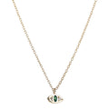 Cat Eye Necklace in Gold & Emerald