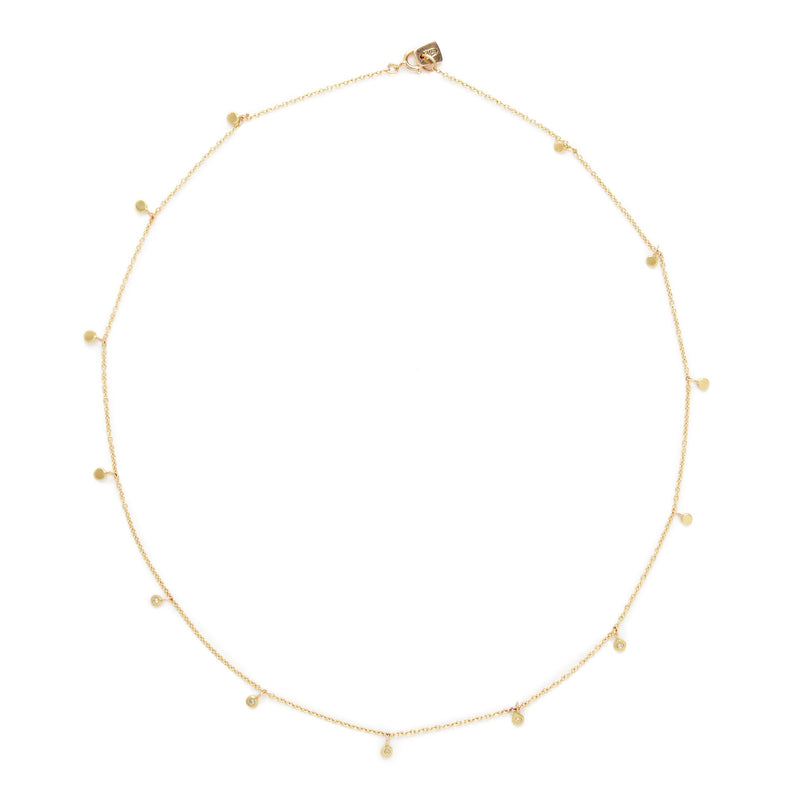 FAIRY LIGHTS NECKLACE with DIAMONDS