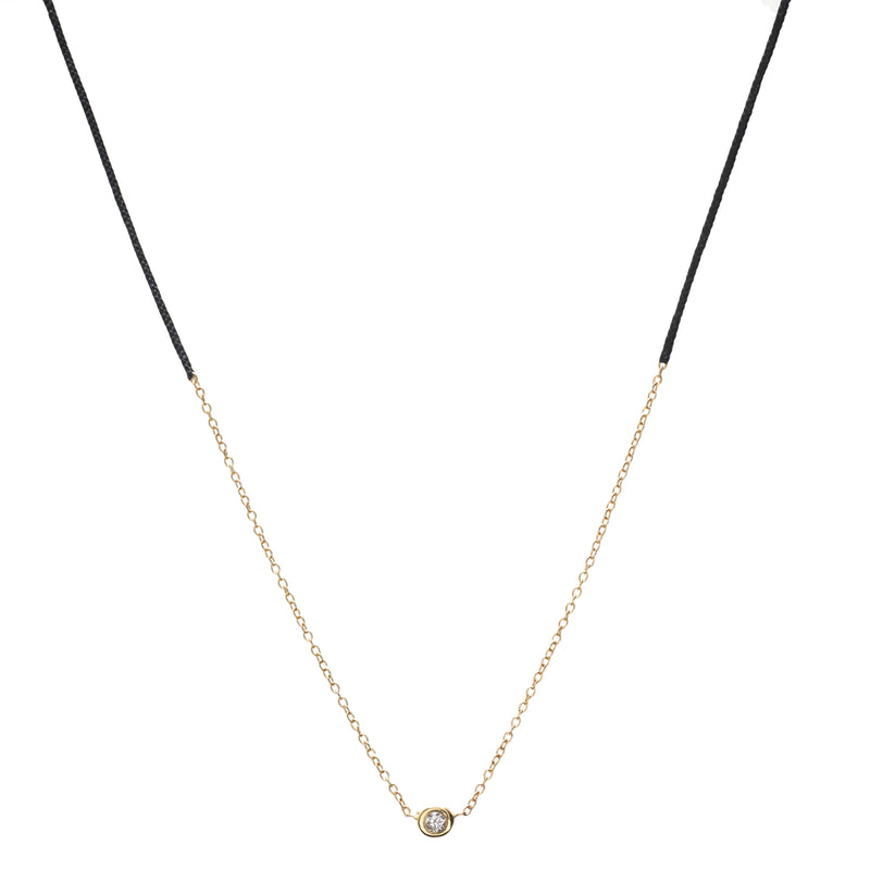 Precious Necklace in Gold with Black