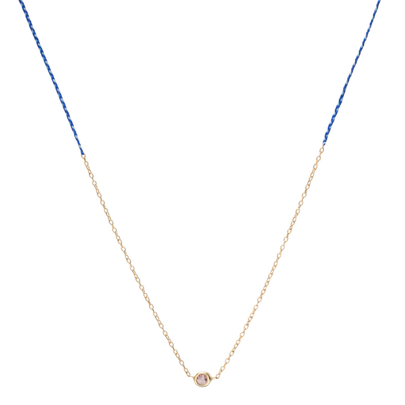 Precious Necklace in Gold with Royal Blue and White