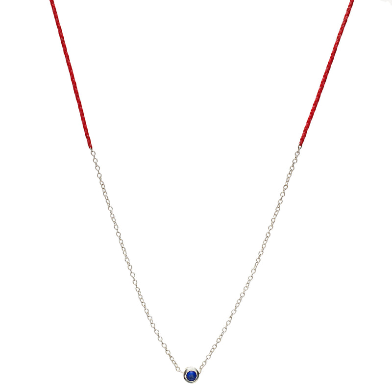 Precious Necklace in Silver with Lapis
