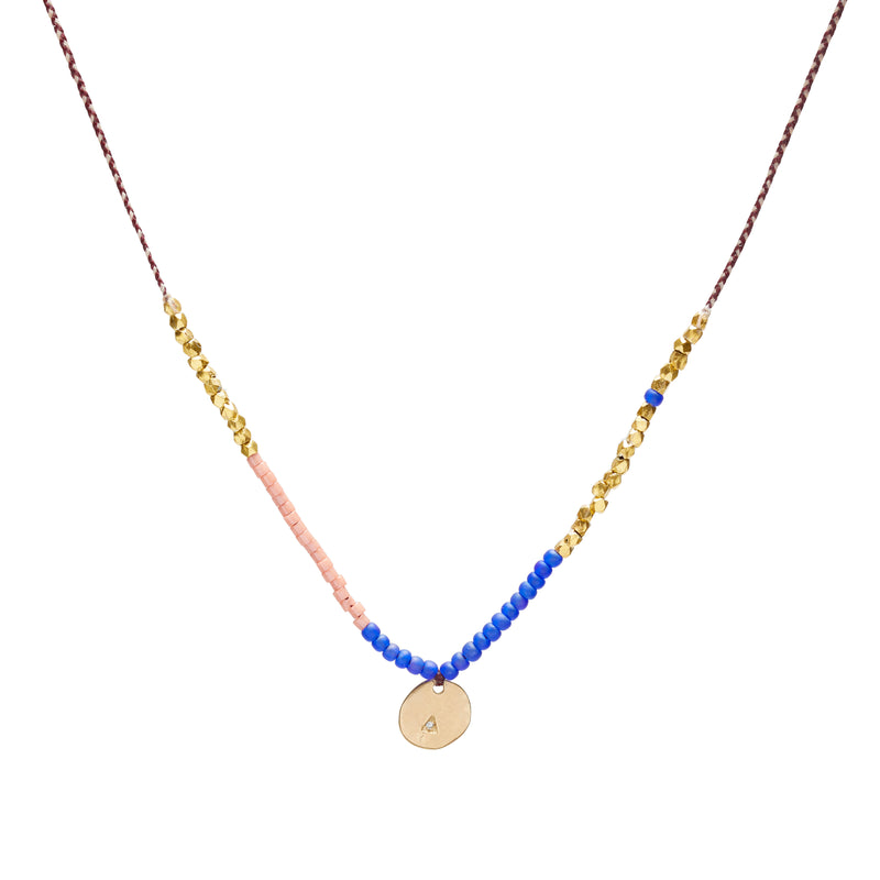 Coin Trinket Necklace in Gold with Diamonds