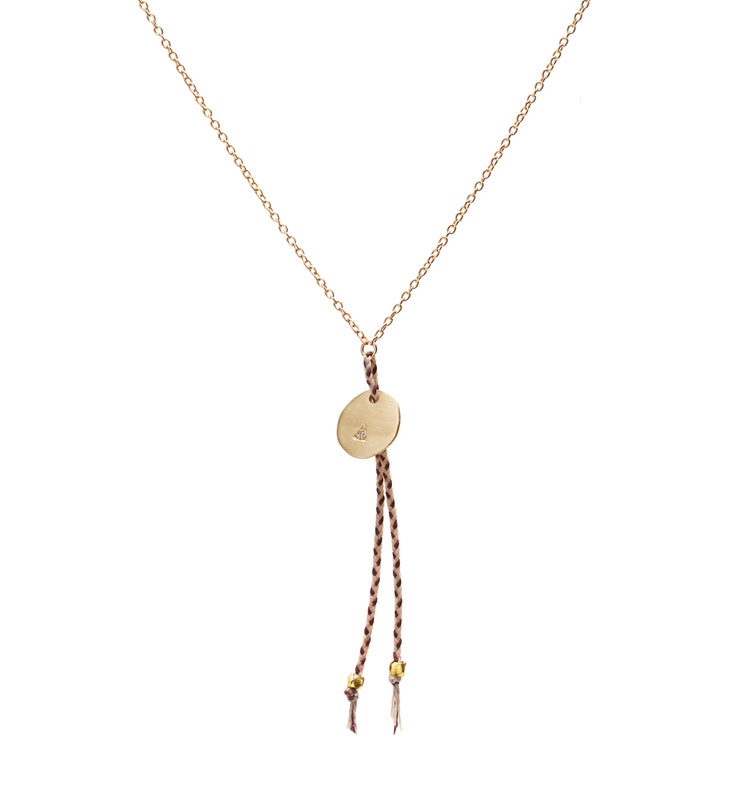 Diamond Coin and Tassel Necklace