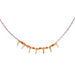 Fairy Tinsel Confetti Necklace in Brass