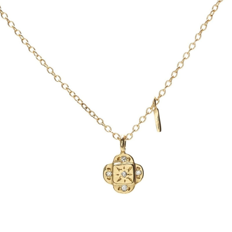 Endless Knot Pendant Necklace. total dia carat weight .025
