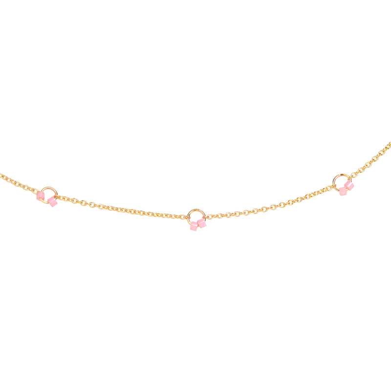 Cha-Cha Anklet in Pink