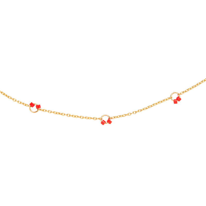 Cha-Cha Anklet  in Red