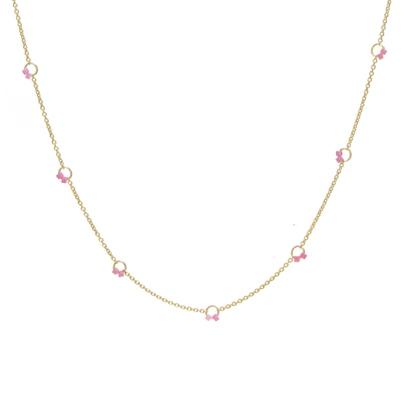 Cha-Cha Necklace in Pink