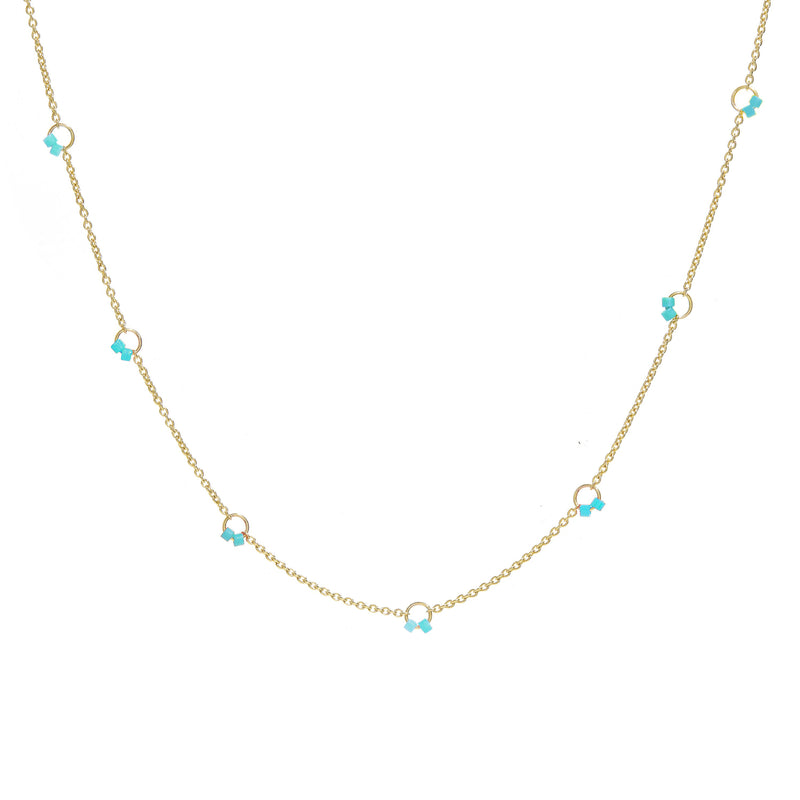 Cha-Cha Necklace in Turquoise
