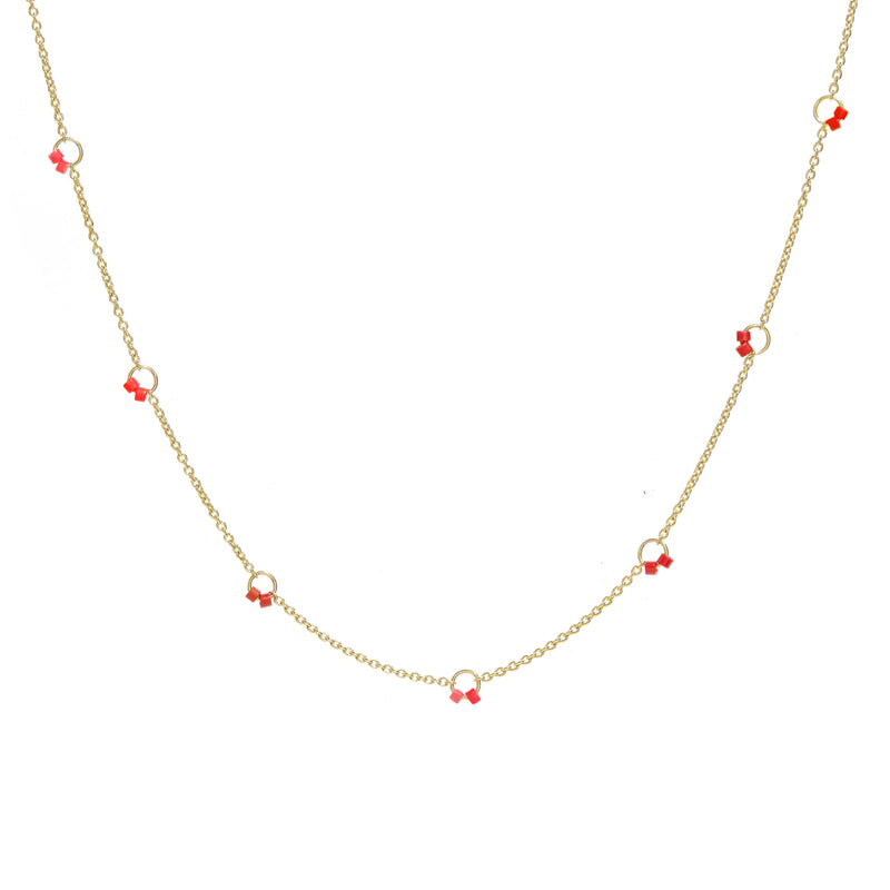 Cha-Cha Necklace in Red