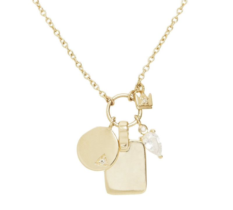 Droplet Charms Necklace in Gold