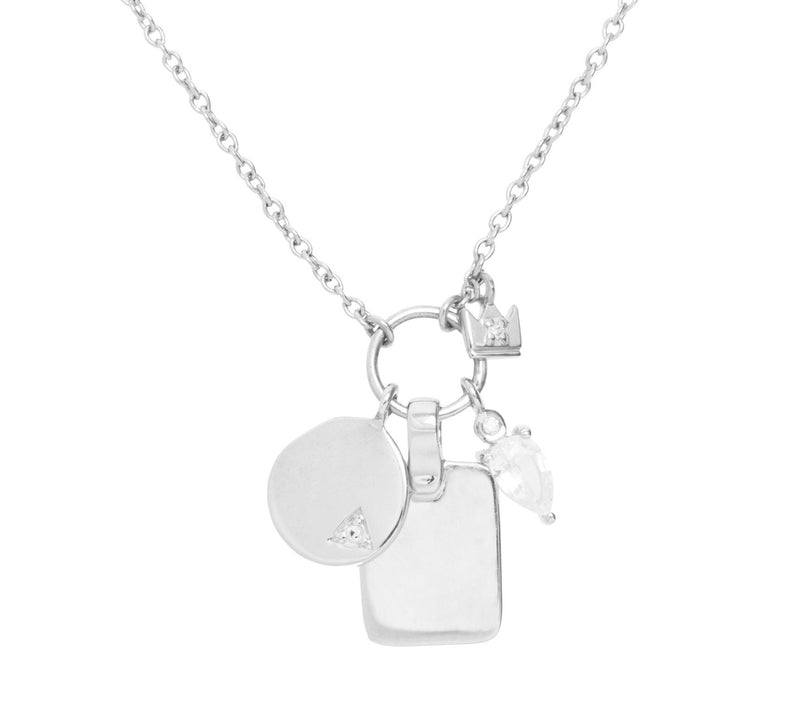 Droplet Charms Necklace in Silver