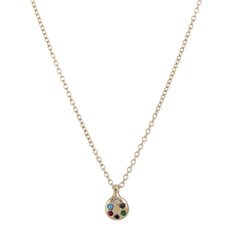 Lolli Necklace in Gold with Mix Stones