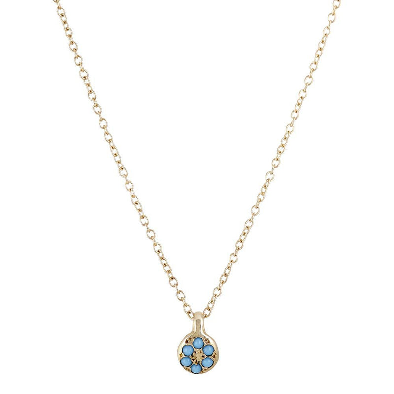 Lolli Necklace in Gold with Turquois