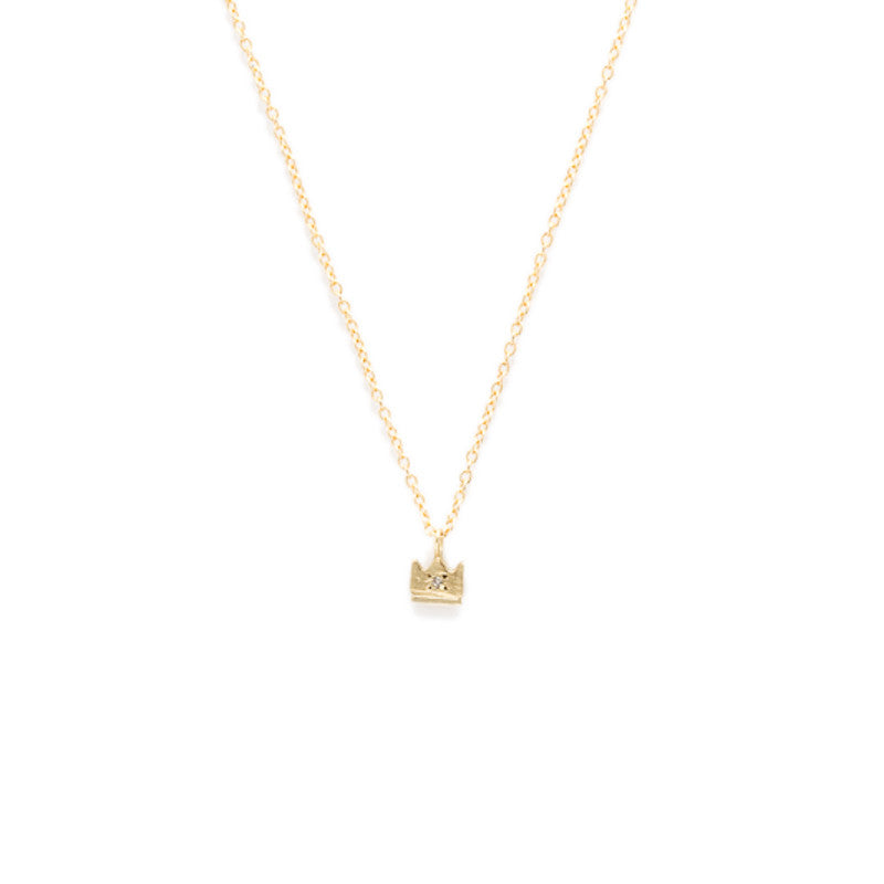 Crown Necklace in Gold