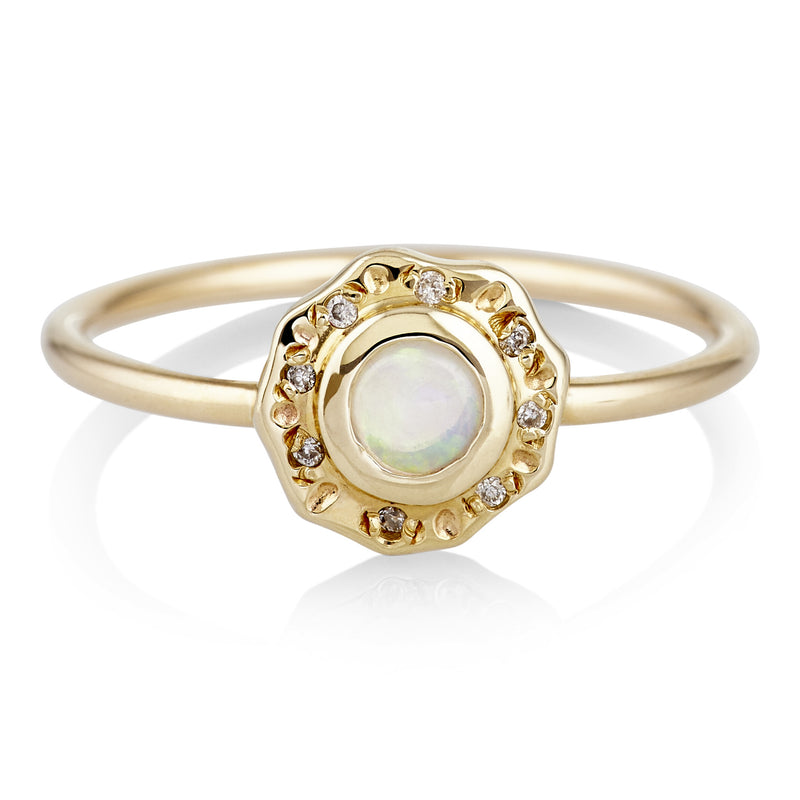 Gold-Plated Wondersun Opal Ring