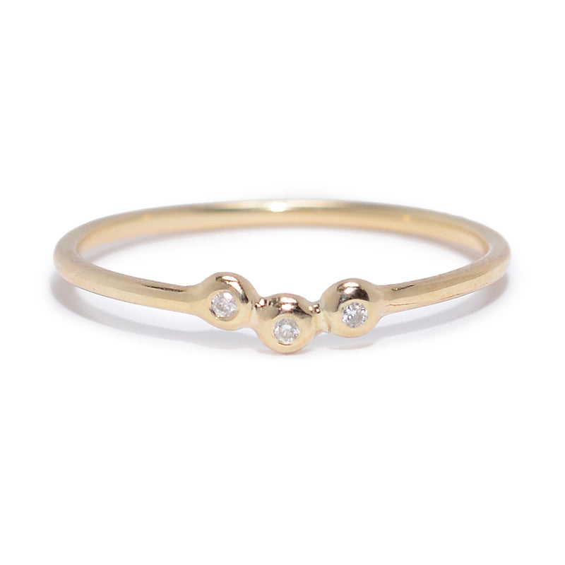 Trio Cluster Ring with Diamonds