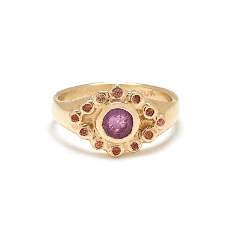 Evil Eye Ring in Gold with Ruby