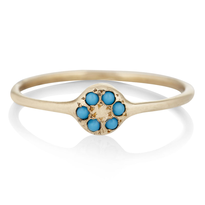Lolli Ring in Gold With Turquoise