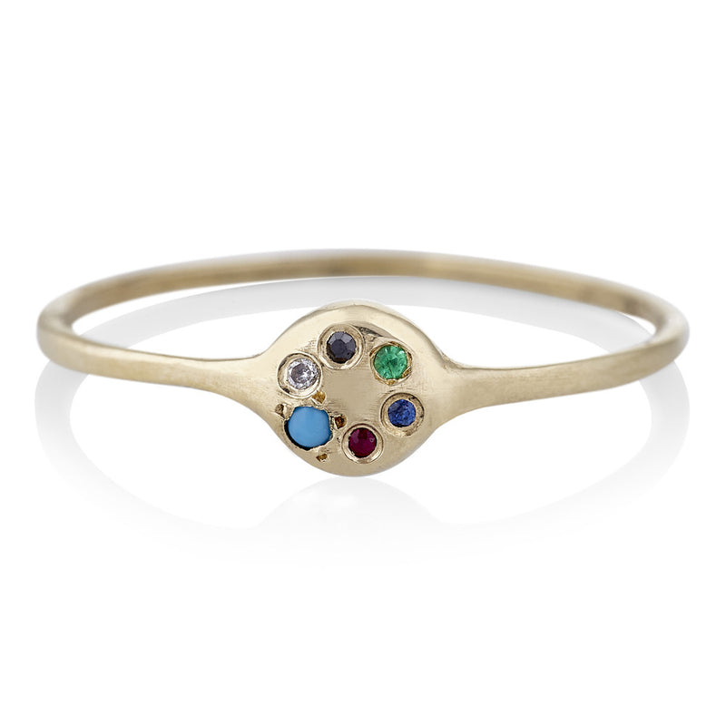 Lolli Ring in Gold With Mixed Stones