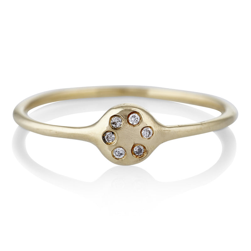 Lolli Ring in Gold with Diamonds