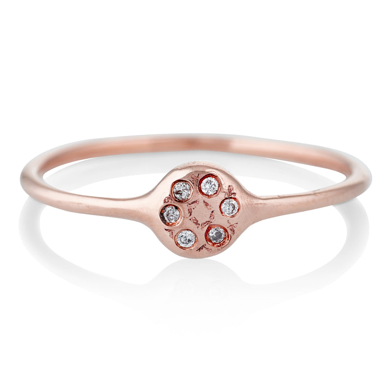 Lolli Ring in Rose Gold with Diamonds