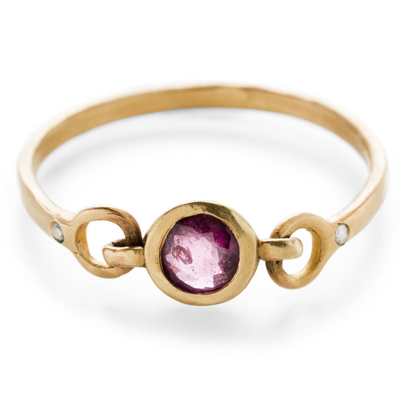 Precious Linked Ruby Ring
