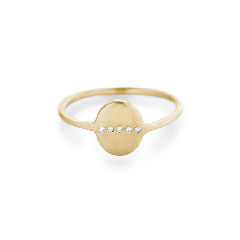 Signet Ring with Diamonds